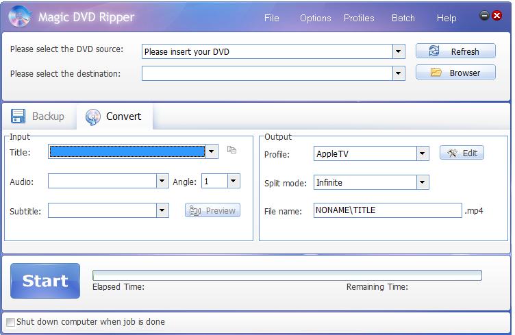 Magic DVD Ripper v.9.0.0 incl Serial Screenshot