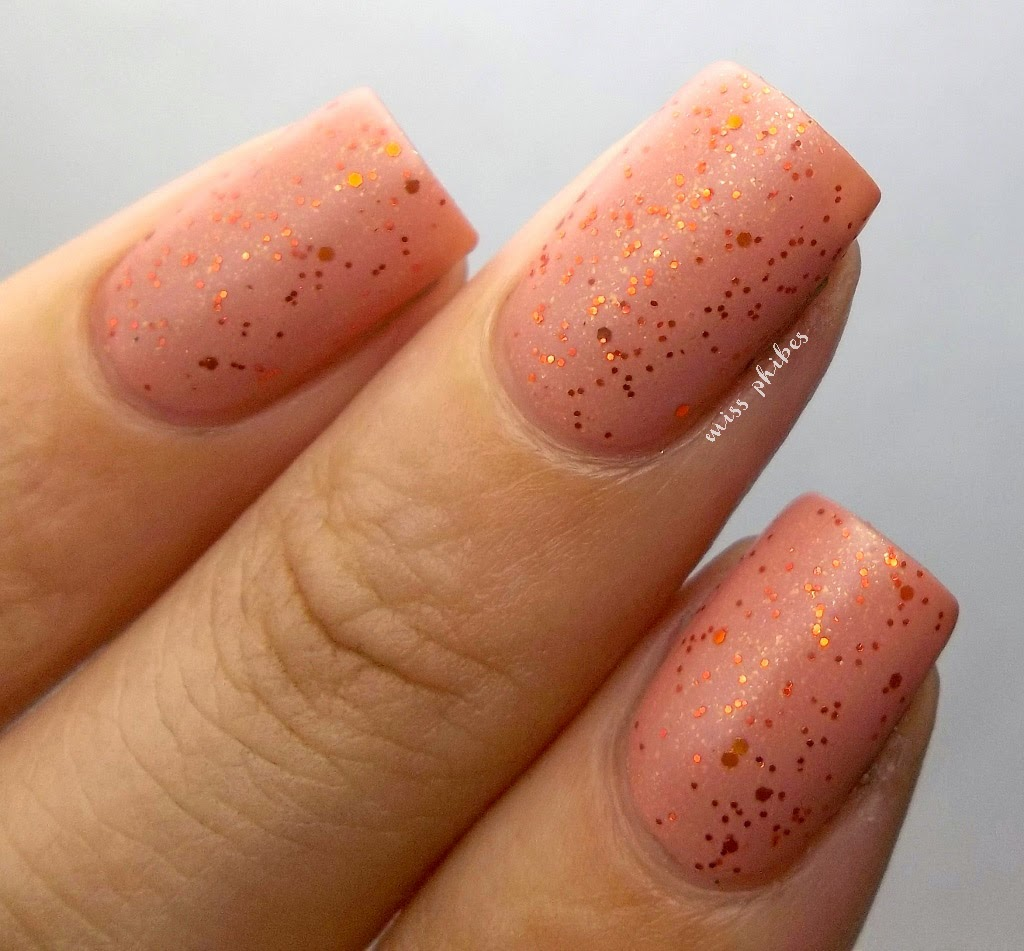 Miss Phibes Orange glitters