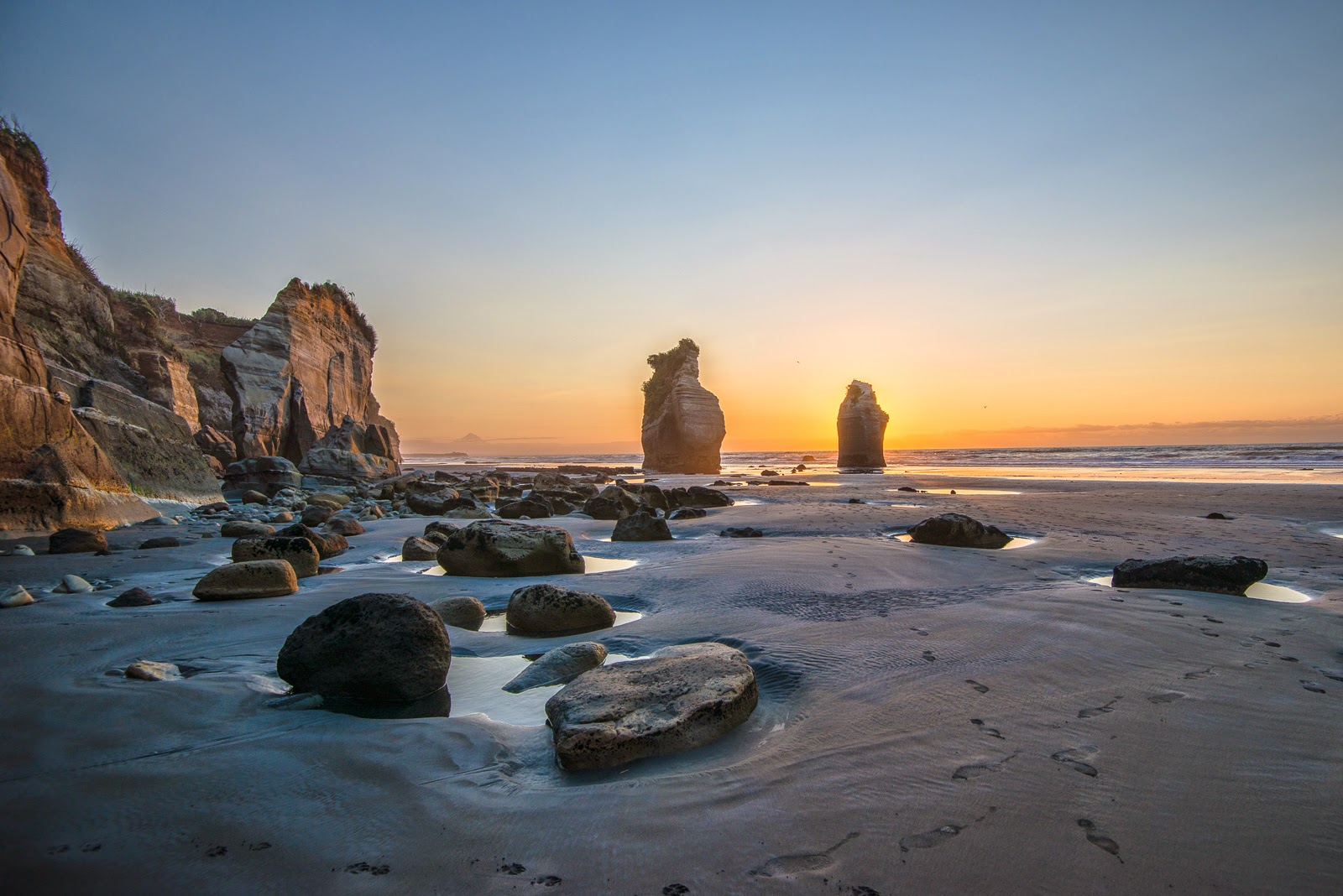 The Three Sisters sunset boulders