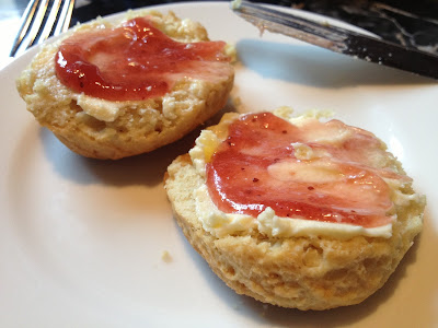 scones, jam, clotted cream