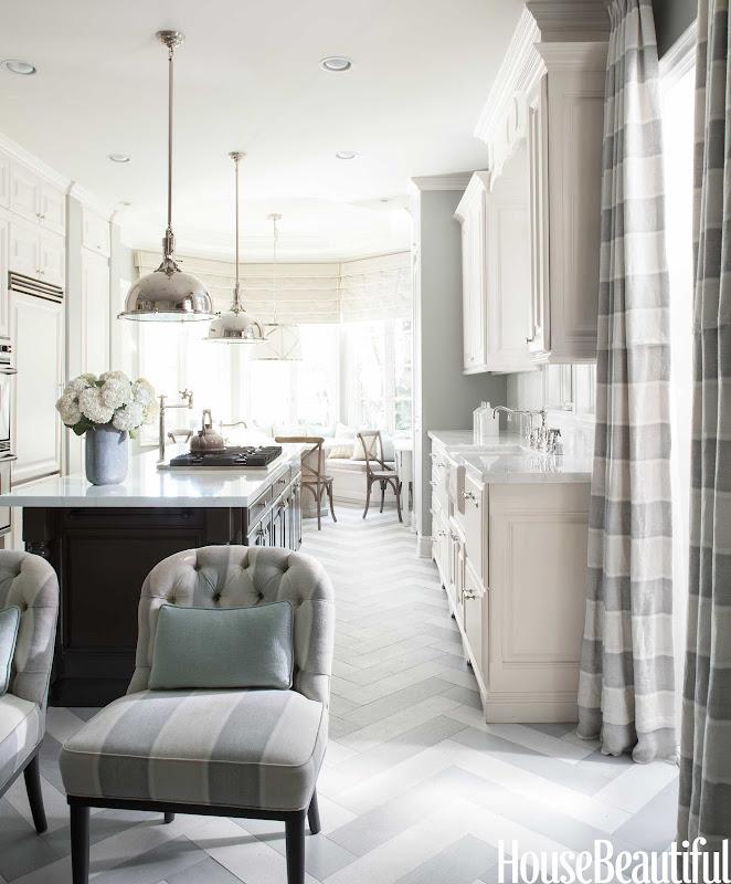 Mary McDonald Floors White Kitchen