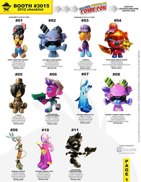ESC Toy New York Comic-Con 2012 Exclusive Checklist
