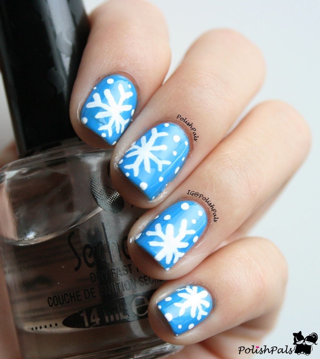 Snowflake Nail Art Tutorial: Polish Pals: Easiest Snowflake Tutorial
