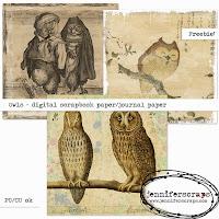 http://www.jenniferscraps.com/2014/10/17/owls-freebie-paper-pack/