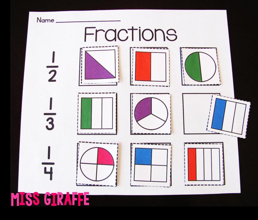 Miss Giraffes Class Fractions In First Grade