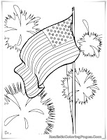 4th of july fire works coloring pages