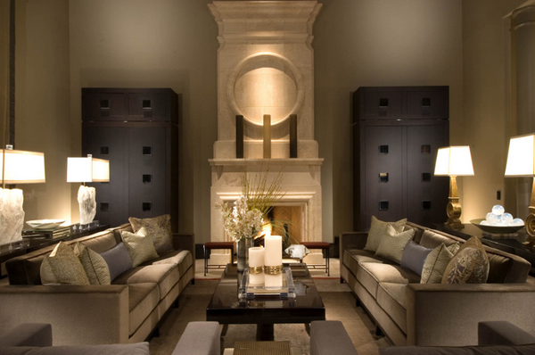 Belles conceptions sym triques de salon d coration salon d cor de salon - Deco salle de sejour ...