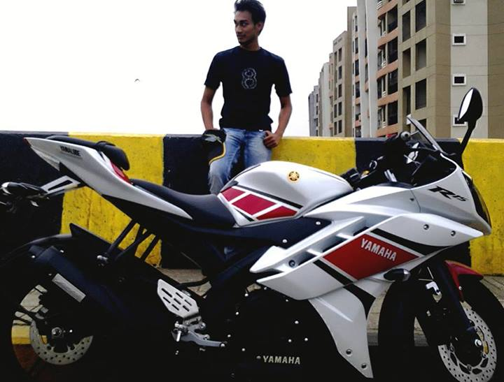 R15 V2 Modified With Projector Lights White R15 | Yamaha R15...