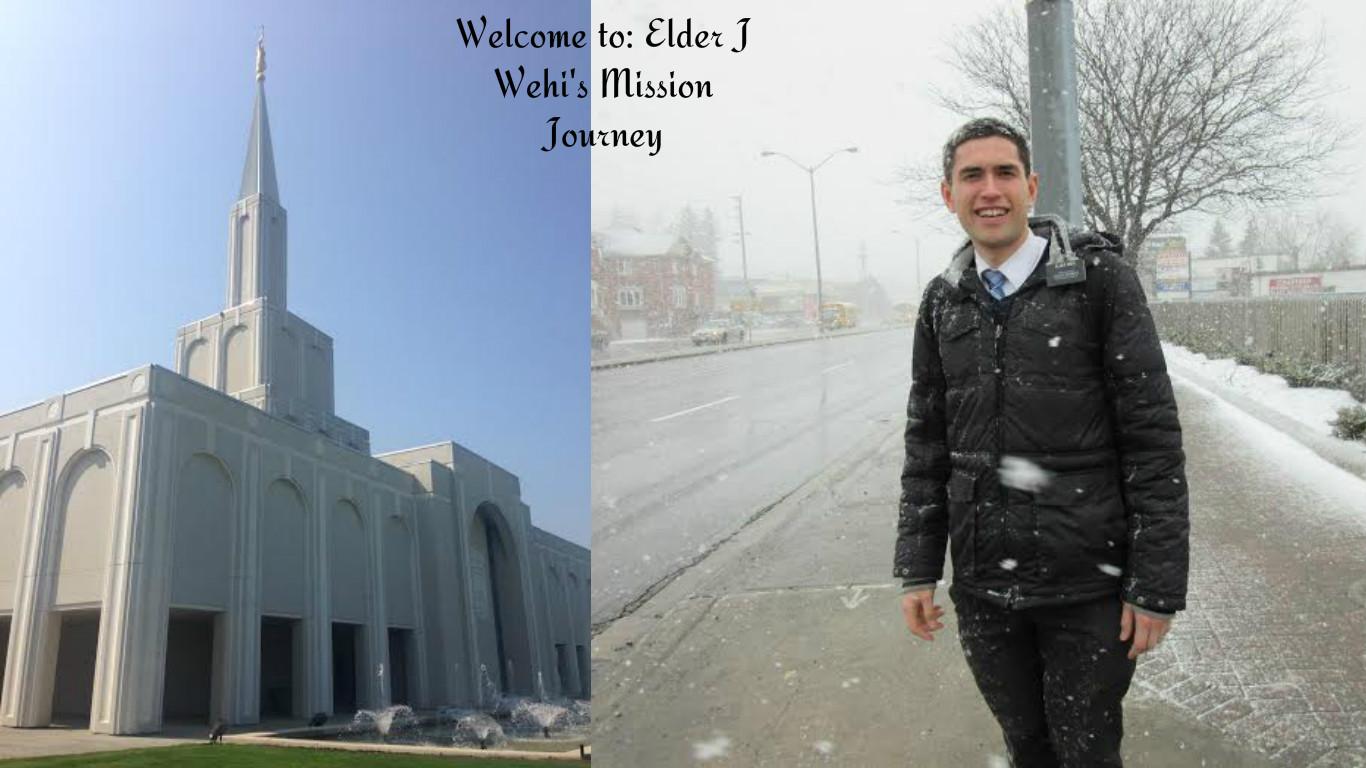 Elder J Wehi's Mission Journey