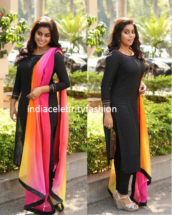 Poorna in Black Salwar kameez