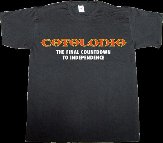 catalonia independence freedom referendum europe rock 9n t-shirt ephemeral-t-shirts