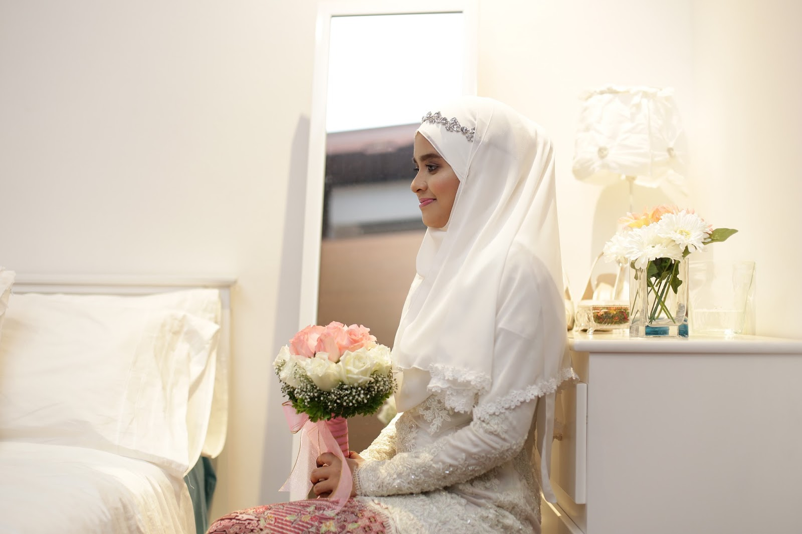 Sugar to my life 16 diy wedding veil nikah reception sorry i dont have a proper picture of the veil hope these help solutioingenieria Images