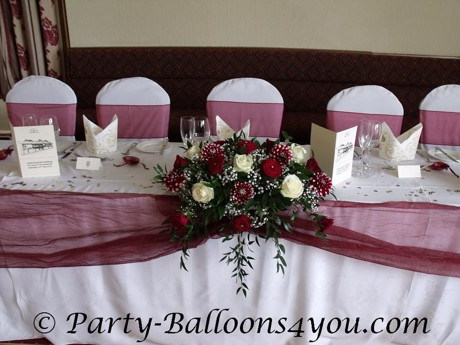 Party balloons 4 you may 2011 - Burgundy and white wedding decorations ...