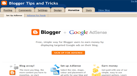 how to put adsense on blogger