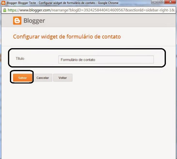 Formulário de contato para Blogger 6