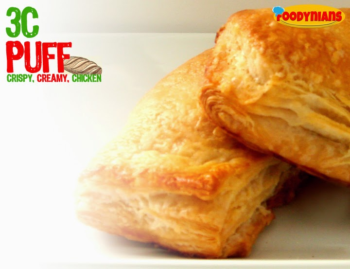 Quick Recipe, Chicken Puff with puff pastry sheet and veggies
