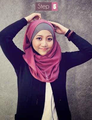 jilbab segi empat 5