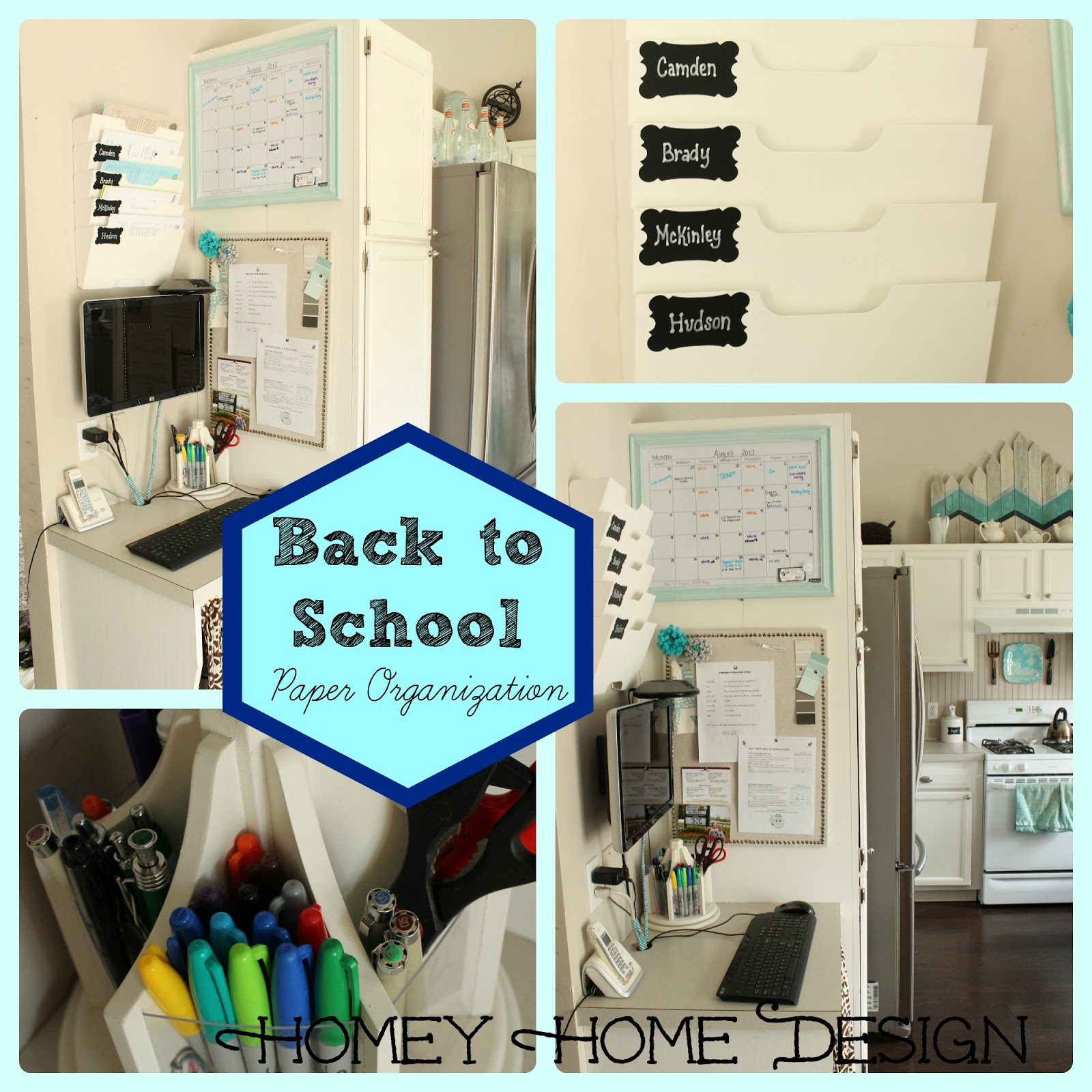 homey home design: Back To School Organization Part 1