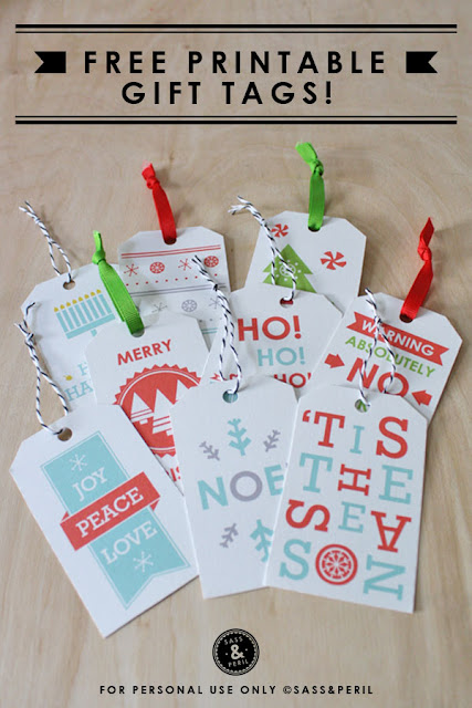Freebies: Holiday gift tags