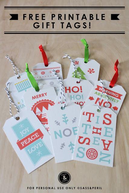 Freebies: Holiday gift tags