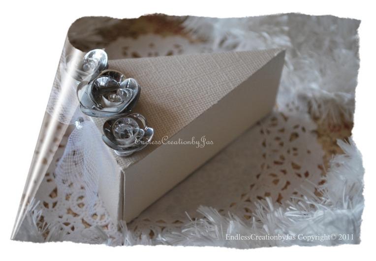 Wedding Favor Cake Slice Box