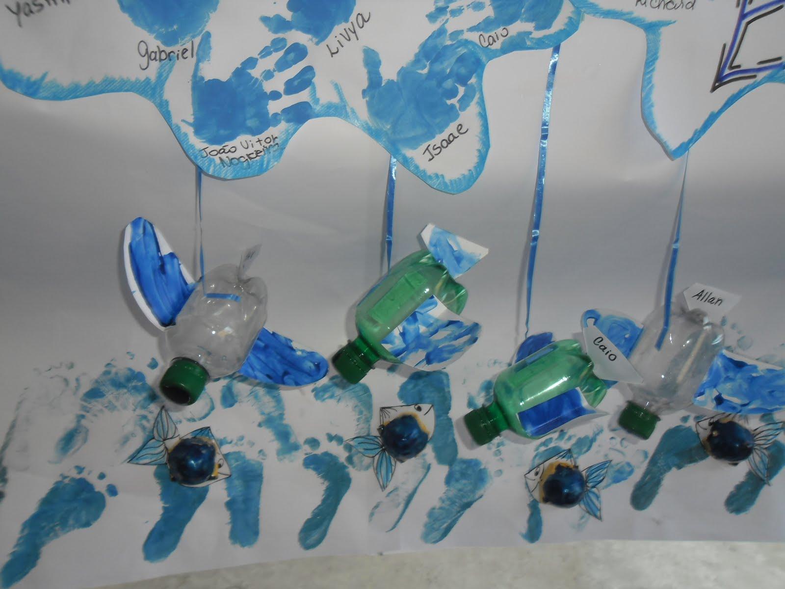 Creche zilka salaberry projeto reciclando e conservando o for Mural sobre o meio ambiente