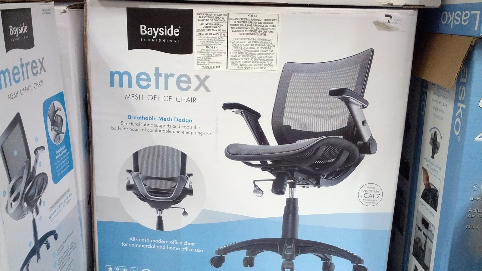 bayside furnishings metrex mesh office chair costco weekender