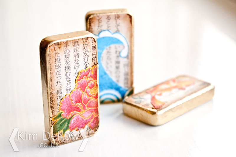 Altered Dominoes with gold edges