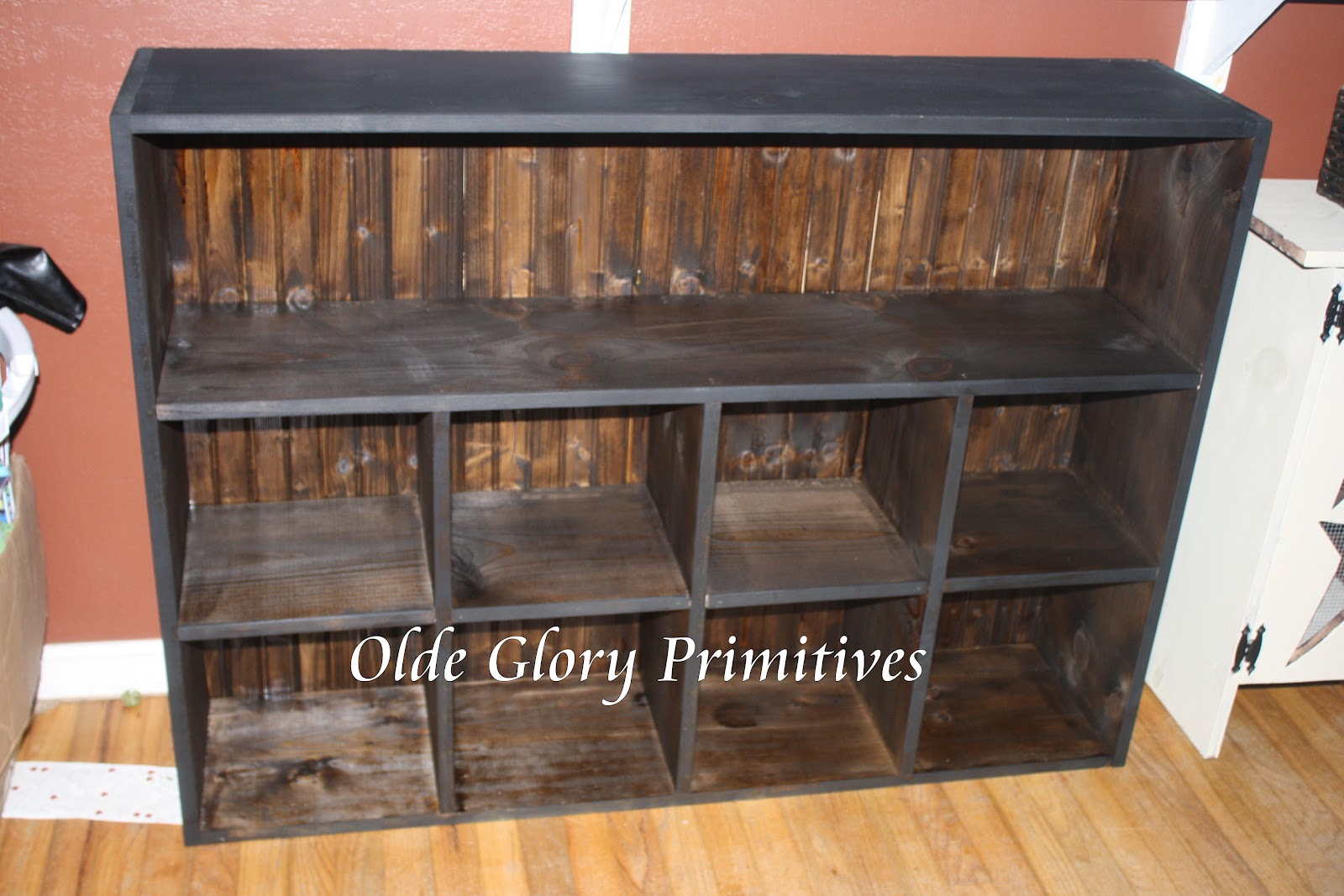 Primitive Furniture Huge Primitive Cubby With