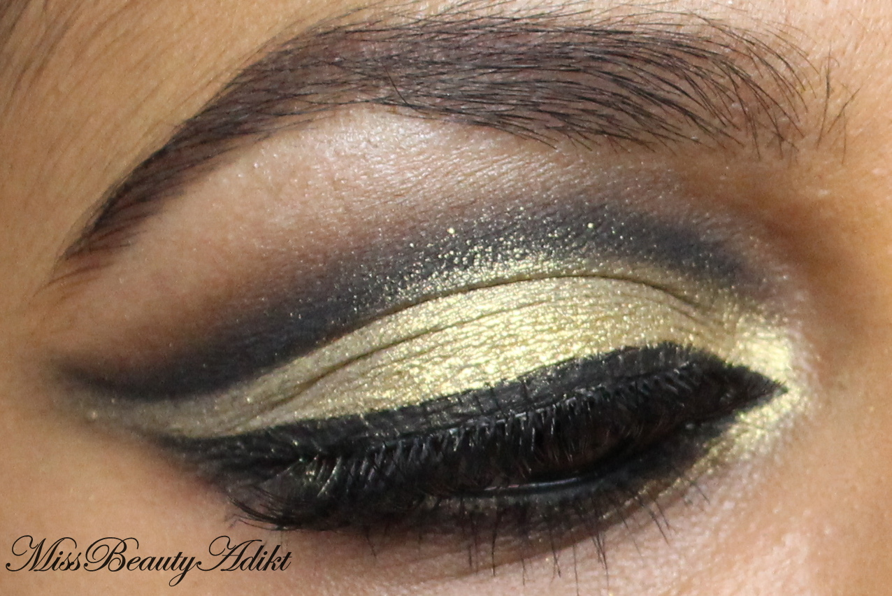 M i s s b e a u t y a d i k t black gold cut crease eid makeup black gold cut crease eid makeup tutorial baditri Images