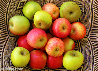 Basket of Three Types of Apples