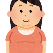 太った女性のイラスト(肥満)