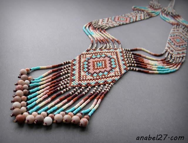 split loom necklace beadwork beadweaving gerdan