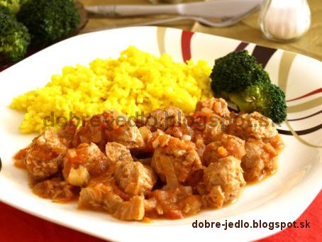 Guláš zo sójového mäsa - recepty