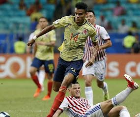 Colombia 1 Paraguay 0. El equipo nacional se clasificó con 9 puntos a cuartos de la Copa América