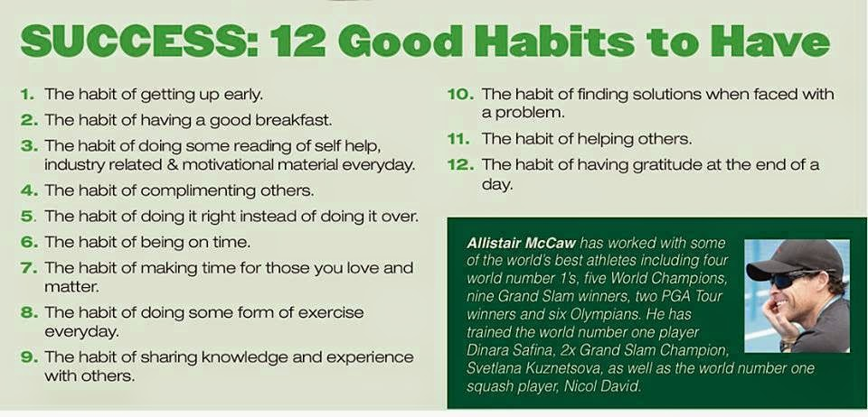 timeless tennis  topic of the day  good habits drive successtopic of the day  good habits drive success