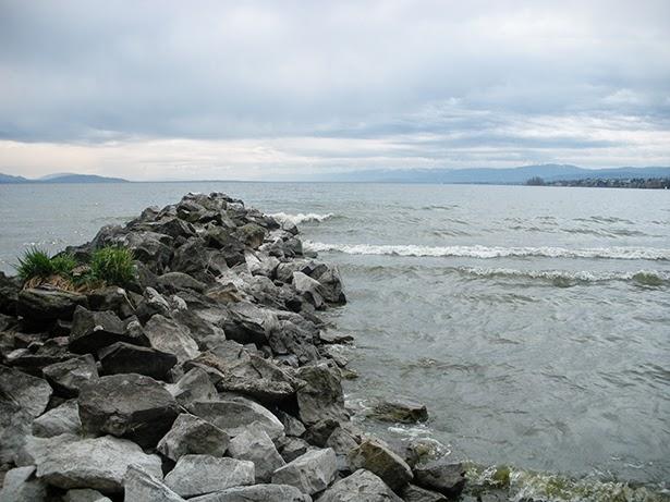 Lake Geneva in Lausanne, Switzerland