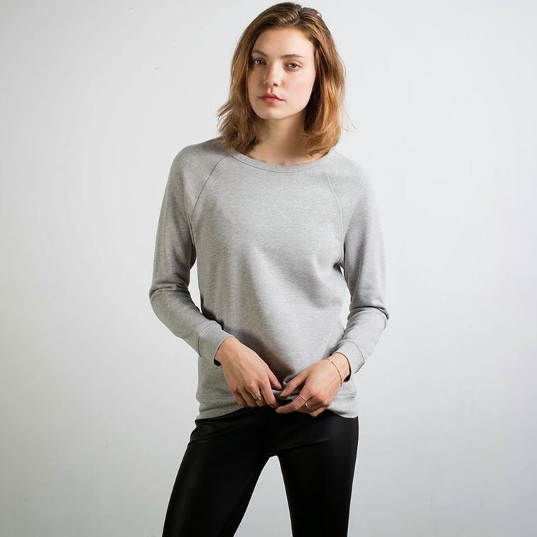 Everlane raglan sleeve heather grey sweatshirt