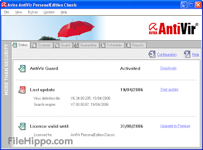 Free Download AntiVir Personal 13.0.0.3640