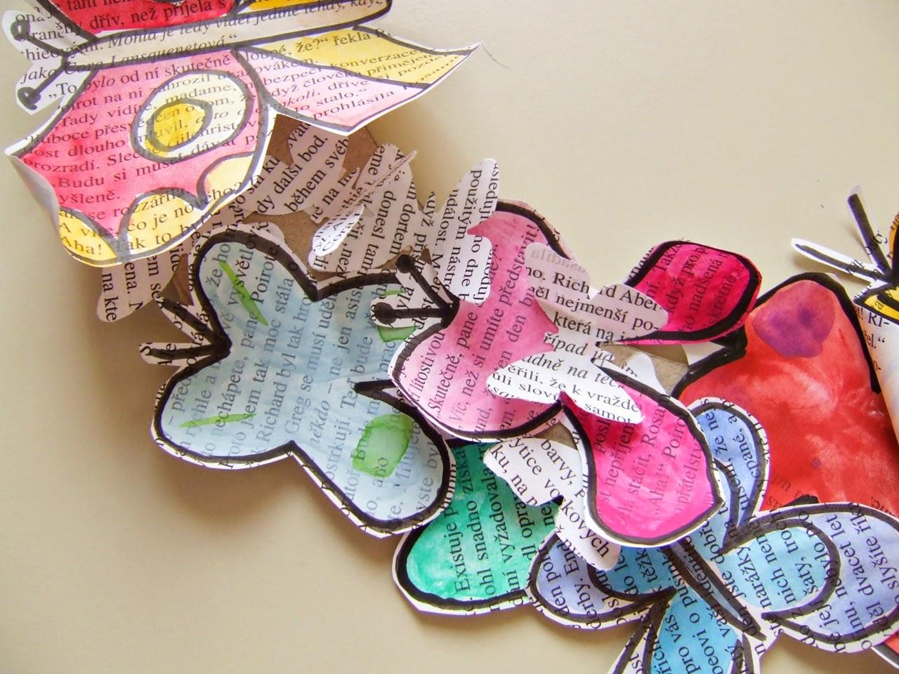 Malujeme s dětmi - motýlí věnec