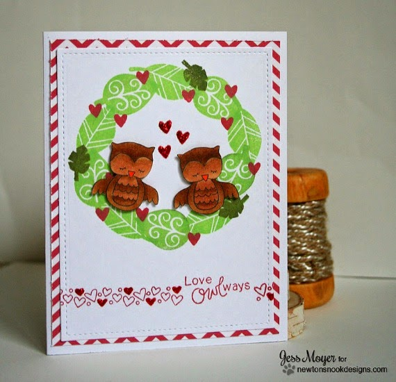 Love Owl-ways Valentine Card by Jess Moyer  | Stamps by Newton's Nook Designs