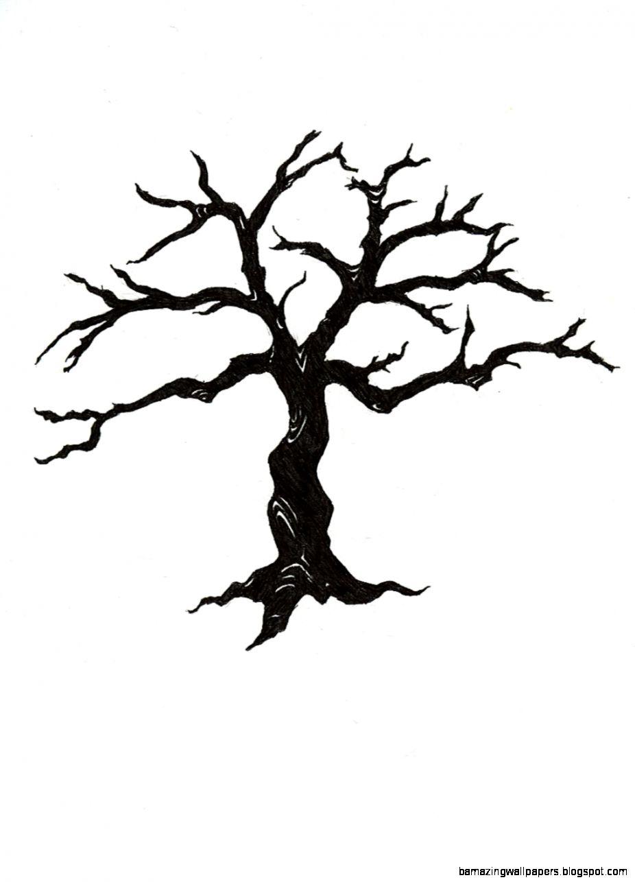 Dead Tree Silhouette Clipart   Clipart Kid