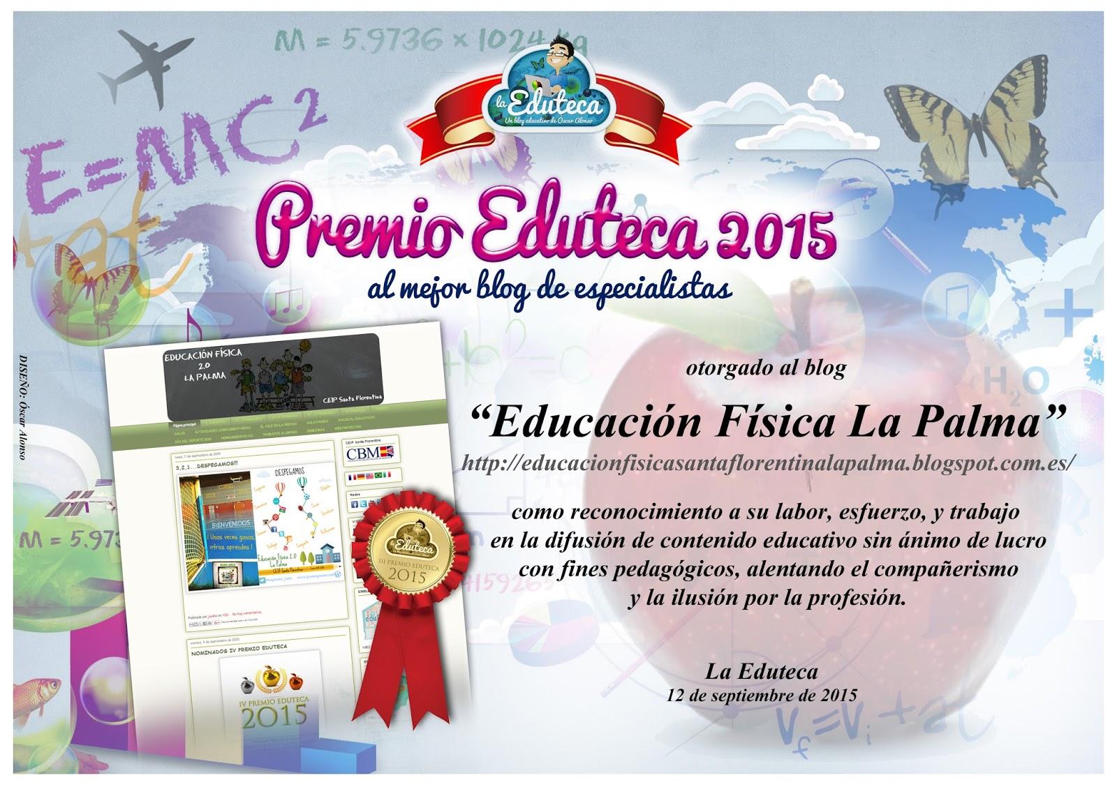 Premio Eduteca 2015 al mejor blog de especialistas