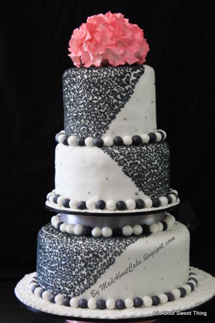 English Wedding Cake Baby Blue and White Delicious KL Henna Theme cake