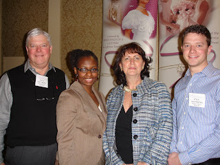 Wedding Gown Specialists Annual Meeting in Las Vegas. Representatives from Janet Davis Cleaners pose with speakers at meeting.