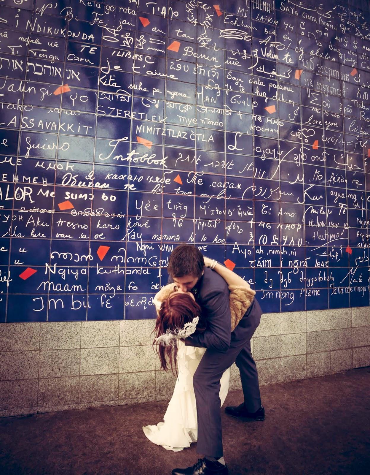 Je t'aime hollywoodien à Paris au mur des je t'aime