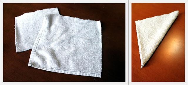 Zajączki z ręcznika Wielkanoc DIY