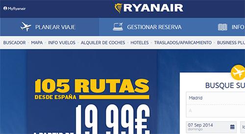 Comprar vuelos directo en RyanAir