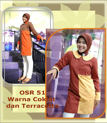 Model Baju Kaos Muslim Osmoes Coklat Terracotta