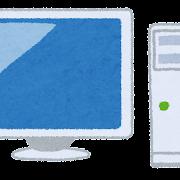 デスクトップパソコンのイラスト